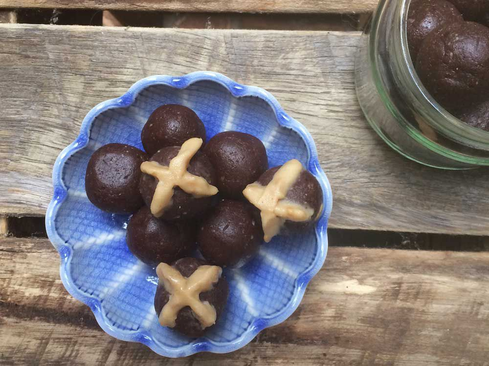 The Inspired Table's hot cross chocolate bliss balls for Isowhey