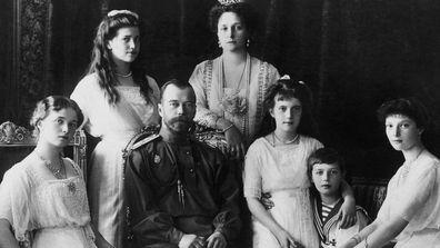 Russian Tsar Nicholas II with Alexei
