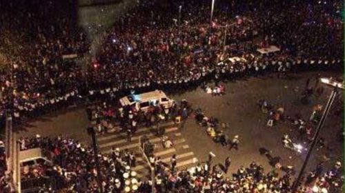 At least 35 people have been killed in a stampede among New Year's Eve revellers in Shanghai. (Supplied)