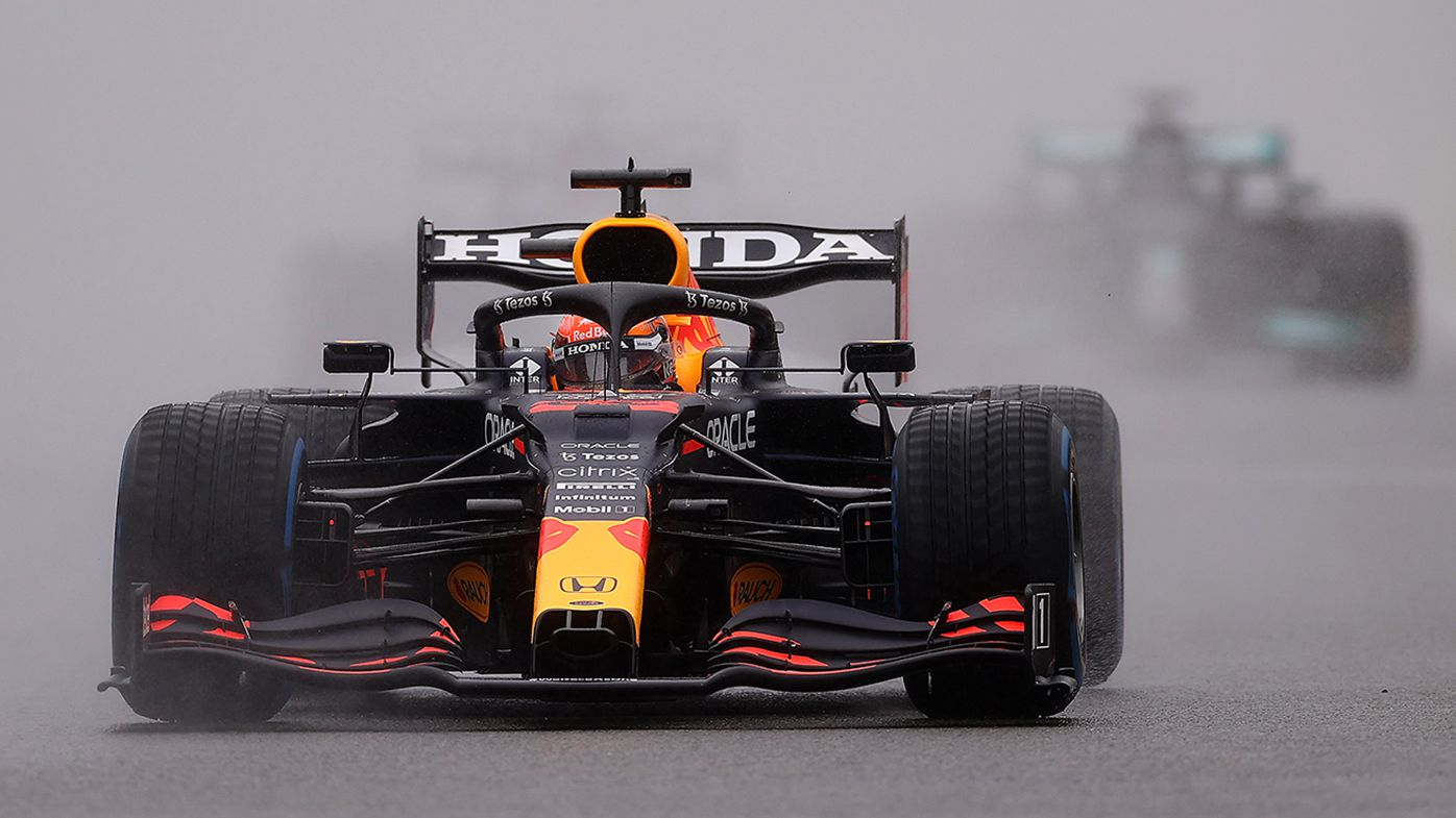 Max Verstappen won the Belgian Grand Prix in farcical circumstances.