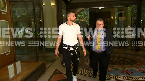Simic appeared before an Australian court this morning, accused of indecently touching a woman he sat next to on a flight into Sydney.