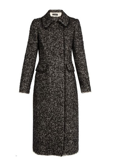 "The sharp coat <a href=""http://www.matchesfashion.com/au/products/Dolce-%26-Gabbana-Double-breasted-boucl%C3%A9-tweed-coat--1065942#"" target=""_blank"">Dolce &amp; Gabbana boucle tweed coat, $4,320.</a>"