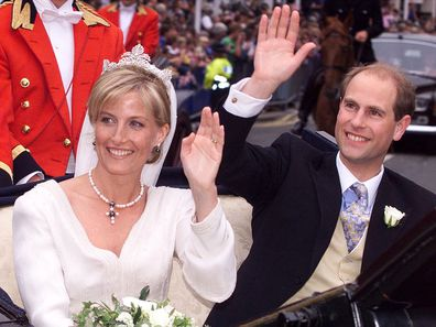 Sophie Rhys Jones and Prince Edward's wedding, 1999