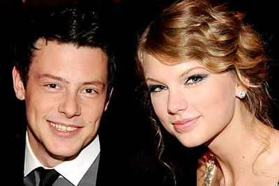 """Did Taylor hook up with <i>Glee</i>'s leading man Cory Monteith at the 2010 Grammy Awards? Gossips reckoned they saw the twosome getting nice and cosy at a Grammys after-party. However, Cory said they were """"just friends"""", while Taylor dodged the question when asked by Ellen DeGeneres in October 2012. Oooh ..."""