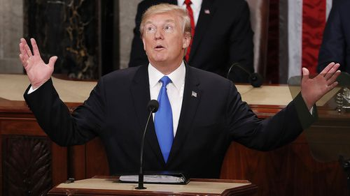 President Donald Trump's inaugural State of the Union address was one of the longest in recent history. (AAP)