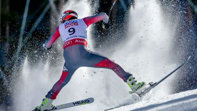 """American alpine skier Bode Miller squandered his chances at another world championship win when he spectacularly crashed during the competition in Colorado.<br><br>The athlete was hurtling down a difficult course when he clipped his left arm on a gate and tumbled down the hill at 100km/h.<br><br>Emerging with a brutal gash in his right leg, he required immediate surgery and said he was """"lucky"""" as it could have been worse.<br><br>He's right - at that speed and trajectory, elite skiers experience g-forces three times the amount astronauts do when launching into space.<br><br>Click through to see the sequence of the tremendous crash. (AAP)"""