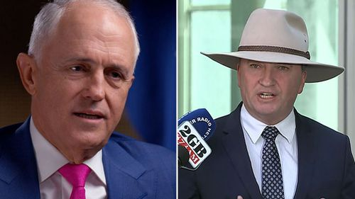 Prime Minister Malcolm Turnbull has told Melbourne radio he doesn't know whether his deputy, Barnaby Joyce, can survive as National Party leader (Supplied).