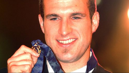 Judd after winning the 2004 Brownlow medal. (AAP)