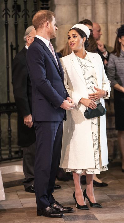 The Duke and Duchess of Sussex arrive at the Westminster Abbey Commonwealth day service.