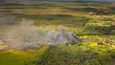 Hawaiians in the lava flow path are being evacuated from their homes with whatever posessions they can take. (Getty)