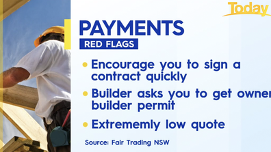 The red flags to watch out for when paying tradies.