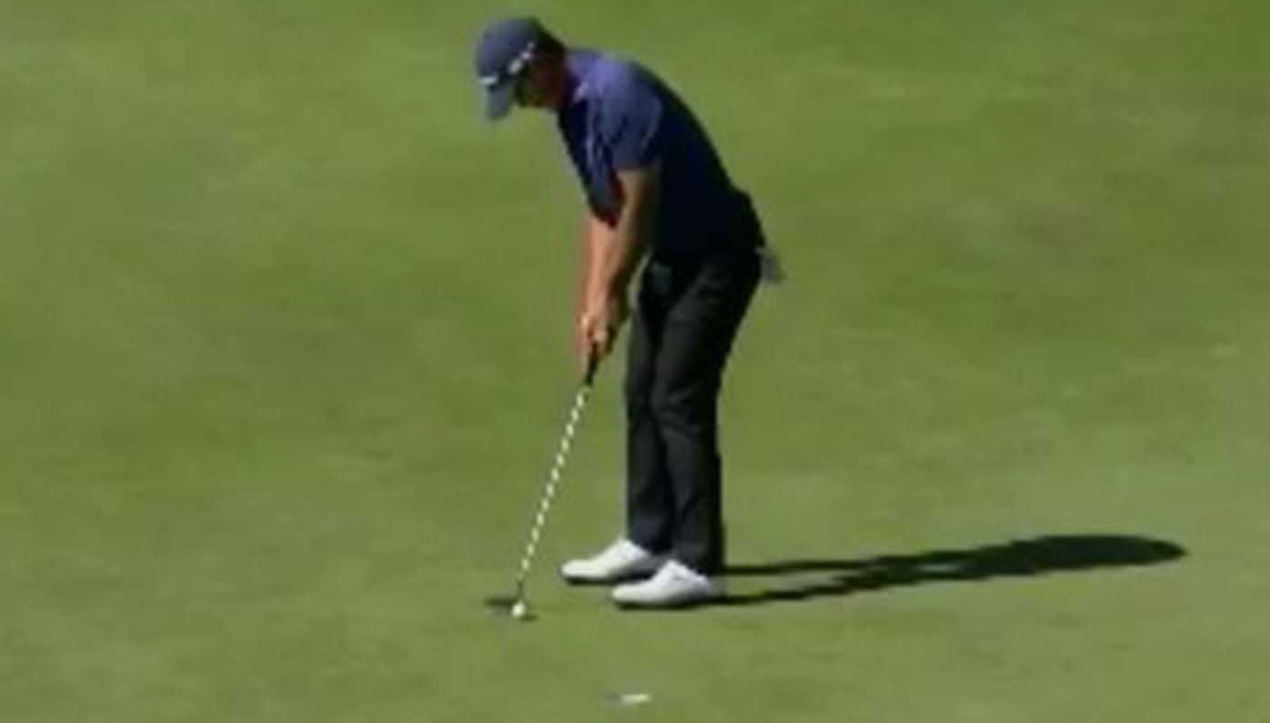 Danny Lee six-putted from just over a metre during the third round of the US Open.