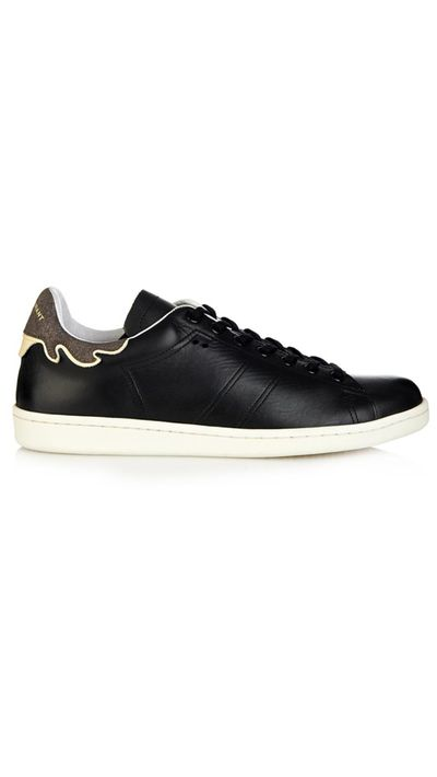 """<p><a href=""""http://www.matchesfashion.com/products/1001842"""" target=""""_blank"""">Bart Leather Sneakers, $410, Isabel Marant Étoile at matchesfashion.com</a></p>"""