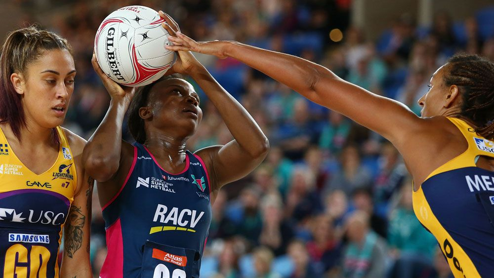 Melbourne Vixens goal shooter Mwai Kumwenda starred against the Lightning. (Getty Images)