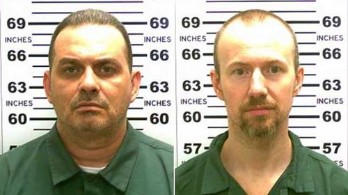 Richard Matt, 48, pictured left, and 34-year-old David Sweat are believed to have escaped from prison at the weekend. (Supplied)