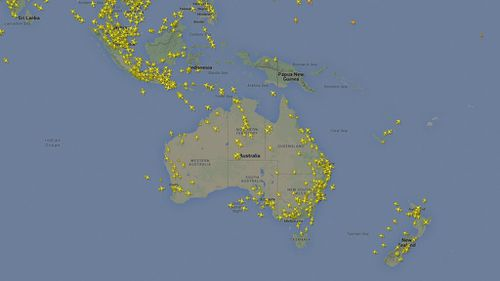Information for ADS-B transmitters can be crowdsourced and uploaded to the Internet, as seen here. (Flightradar24)