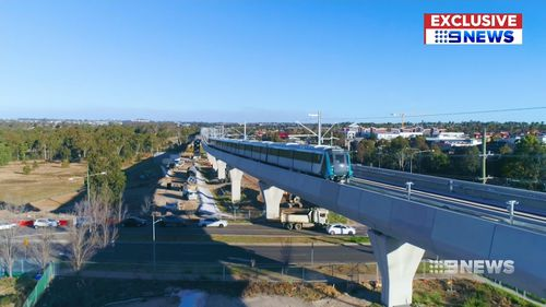The train reached speeds of 100km/h and when fully operational, the new system will service customers every four minutes. Picture: 9NEWS