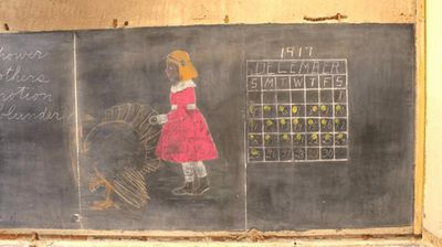 "The drawings depicting lessons in maths, music and American pilgrims were uncovered in Emerson High School in Oklahoma on June 2, <a href=""http://newsok.com/workers-discover-preserved-writings-drawings-on-slate-blackboards-at-okc-high-school/article/5425449"">The Oklahoman reports</a>.<p></p><p>  The lessons had been untouched since December 4, 1917, six years after the school was built, and are in near-perfect condition. </p><p></p>"