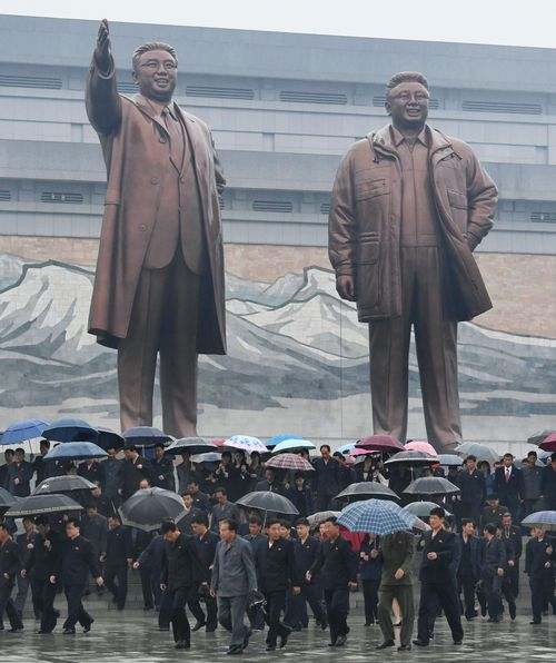 The former spy says North Korea's leader at the time, Kim Il-sung, was treated as a god. (AAP)