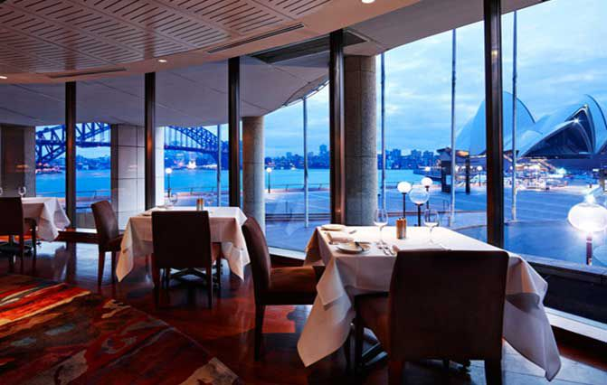 Aria restaurant, Sydney. Valentine's Day bookings