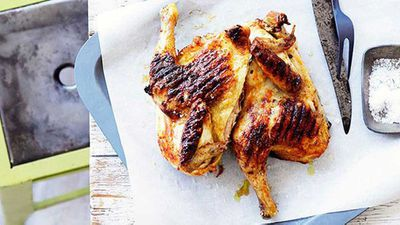 <strong>Grilled whole chicken with piri piri</strong>