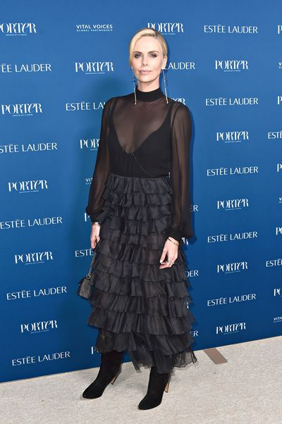 Charlize Theron attends PORTER's Third Annual Incredible Women Gala at The Ebell of Los Angeles on October 9, 2018 in Los Angeles, California