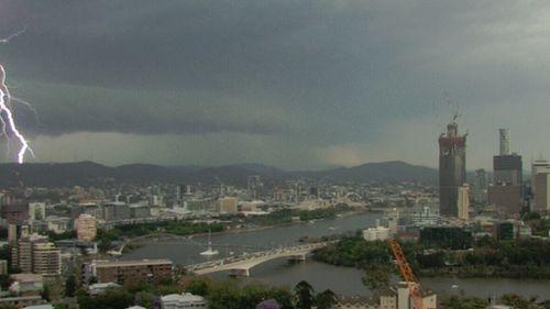 Lightning over the CBD. (9NEWS)