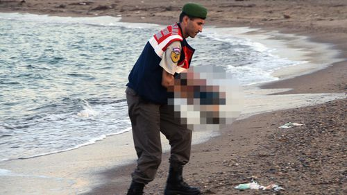 Heartbreaking photos of drowned migrant boy shock Europe