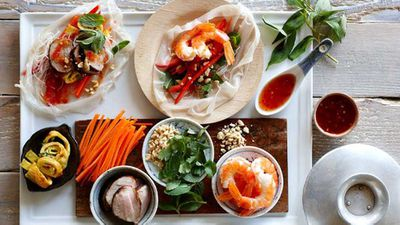 Party platters: Vietnamese rice paper rolls