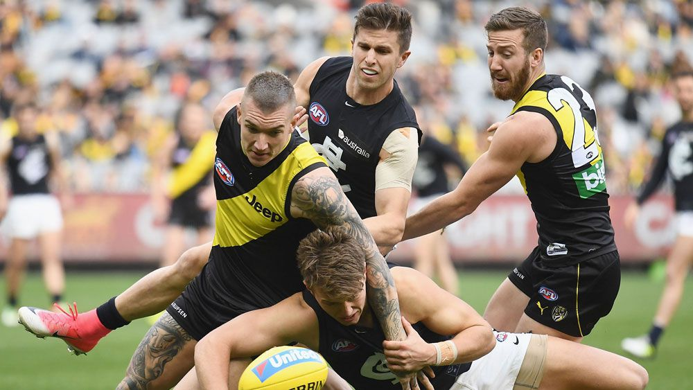 Richmond Tigers edge Carlton Blues in scrappy AFL clash at MCG