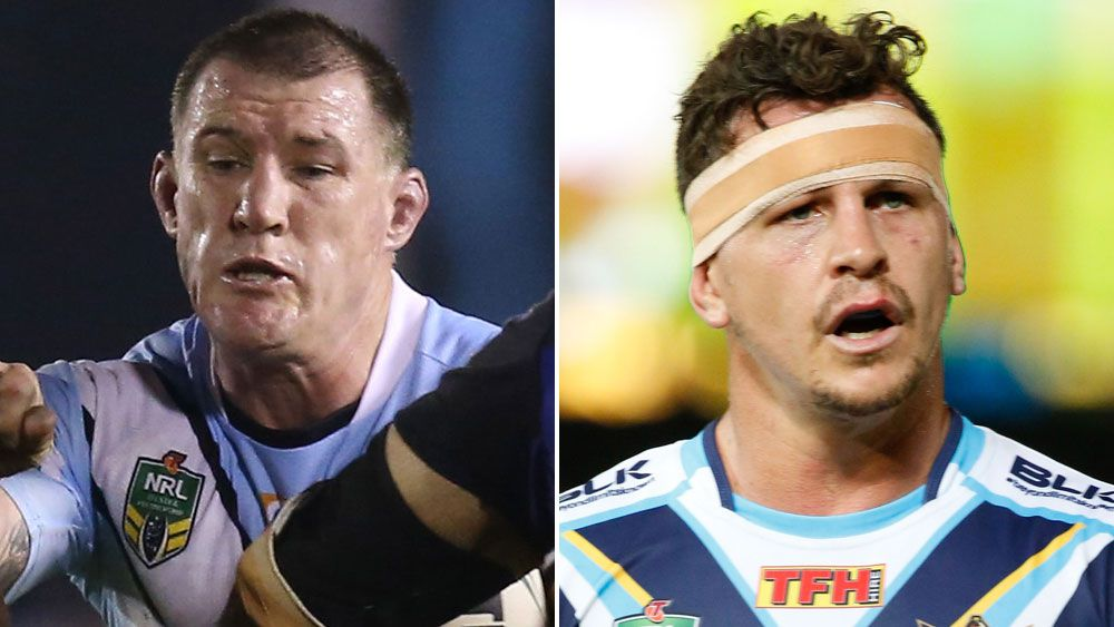 Paul Gallen and Greg Bird. (AAP)