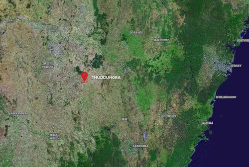 The incident took place at Thuddungra, four hours west of Sydney.