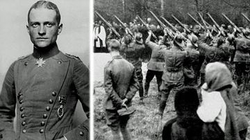 The Red Baron - Manfred von Richthofen - was buried with full military honours by Allied forces in 1918. (Photos: AP).
