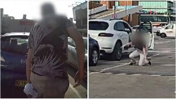 Terrifying dashcam footage has revealed the moment a mother was allegedly carjacked in Sydney's east last week.