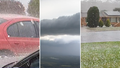 Severe storm hits NSW city of Coffs Harbour bringing large chunks of hail
