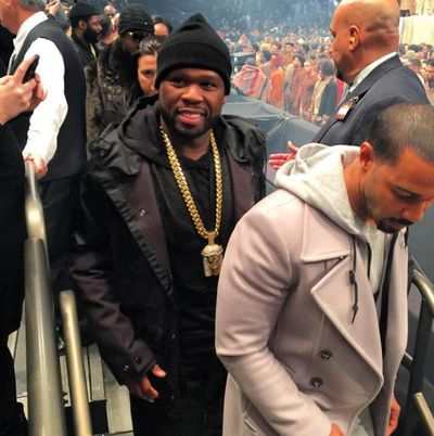 Rapper 50 Cent attended the show.