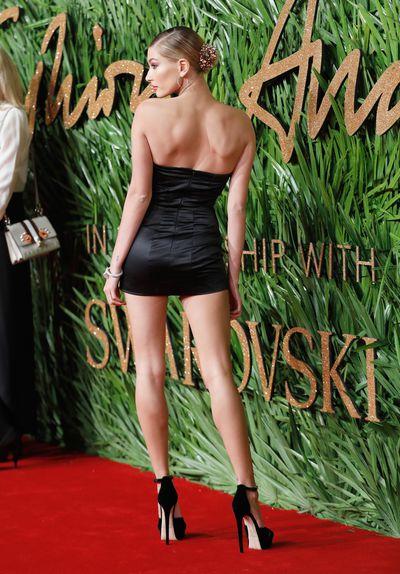 Hailey Baldwin in Topshop at the Fashion Awards, London.