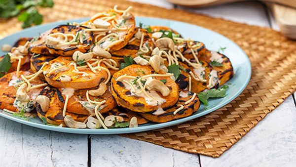 BBQ sweet potato with coriander and lime mayo by Praise