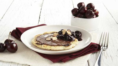"Recipe: <a href=""http://kitchen.nine.com.au/2018/02/12/15/03/cherry-pancakes-with-nutella-recipe"" target=""_top"">Cherry pancake with Nutella</a>"