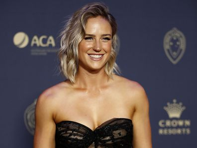 Ellyse Perry at the 2020 Cricket Australia Awards