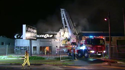 Investigators are treating the fire as suspicious. (9NEWS)