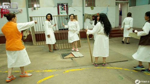 Women inside prison