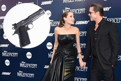 We don't even know if they're married yet, but Brad Pitt apparently bought Angelina Jolie her own shooting range. <br/><br/>How romantic.