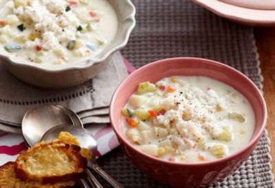 "Recipe: <a href=""/recipes/icrab/8349405/potato-and-crab-chowder-2-25-per-serve"">Potato and crab chowder</a>"
