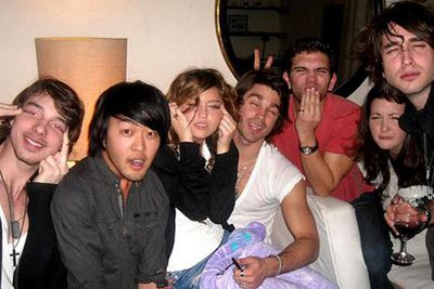 """Miley Cyrus said she was just making """"goofy"""" faces in this photo taken at party when she was 16."""