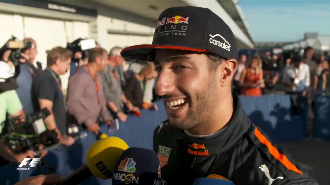 Ricciardo talks about his thrilling finish in Japan