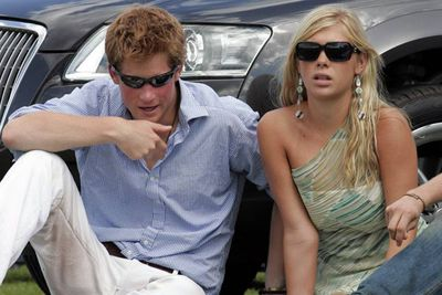 Prince Harry with then-girlfriend Chelsy Davy, 2006