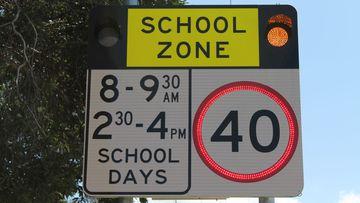 School zone sign sydney nsw speed speeding