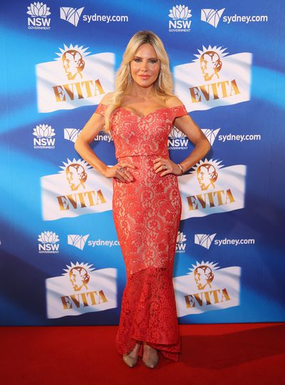 <em>The Real Housewives of Sydney </em>star Melissa Tkautz at the premiere of<em> Evita</em>, Sydney Opera House.