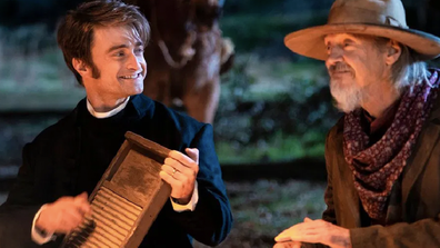 Radcliffe plays an idealistic small-town preacher in 'Miracle Workers'.